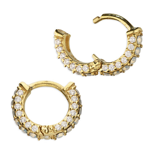 SUNSHINE Opalique & CZ Huggie Earrings