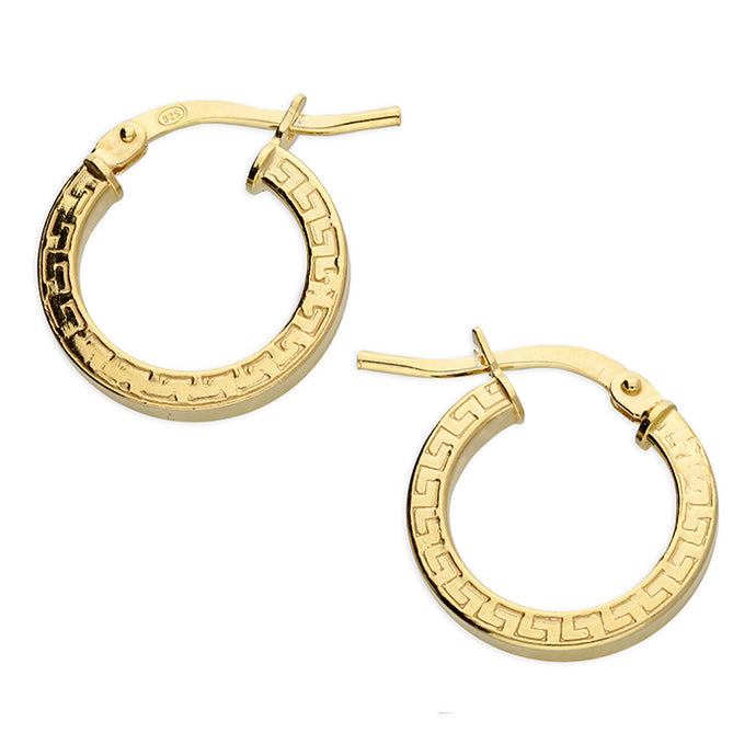 SUNSHINE Greek Pattern Hoop Earrings