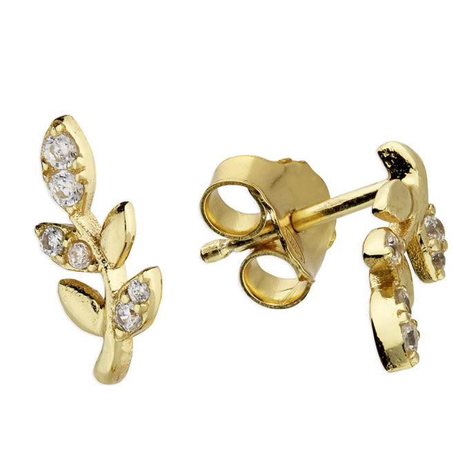 SUNSHINE CZ Twig Stud Earrings