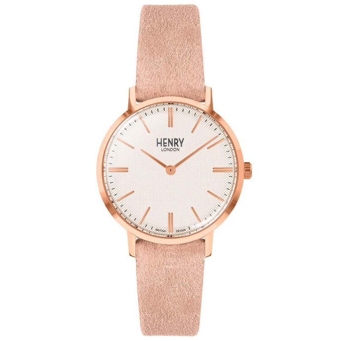 HENRY Regency Suede Pink 34mm