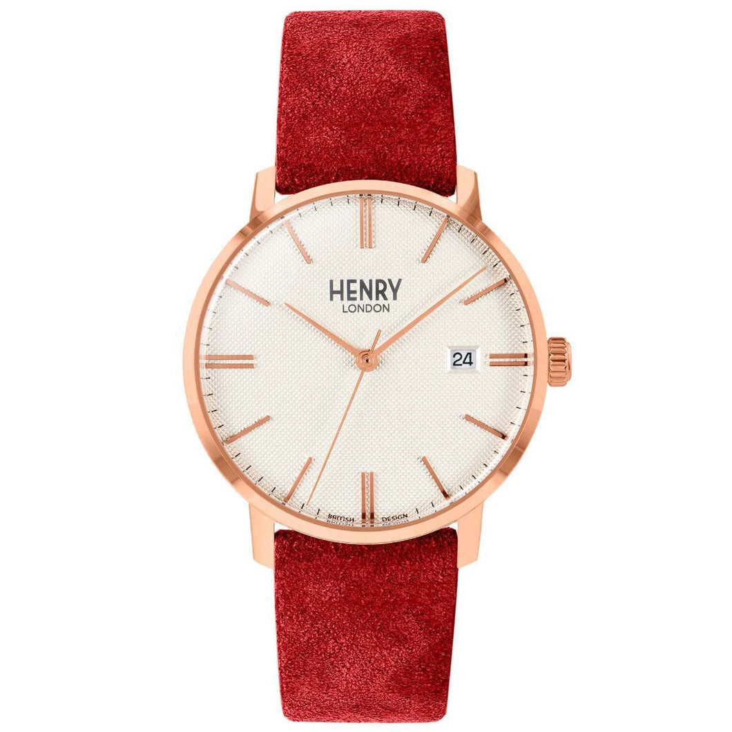 HENRY Regency Suede Red 40mm