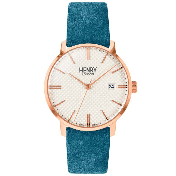 HENRY Regency Suede Teal 40mm