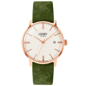 HENRY Regency Suede Green 40mm