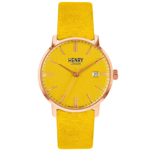 HENRY Regency Suede Mustard 40mm
