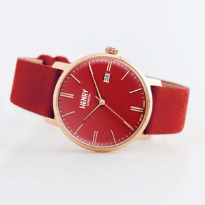 HENRY Regency Suede Red & Red 40mm