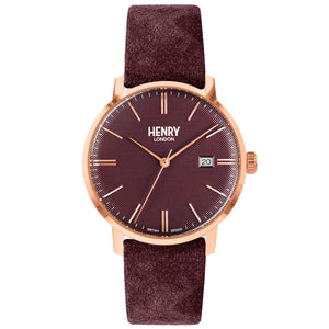 HENRY Regency Suede Plum 40mm