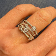 Load image into Gallery viewer, Silver CZ Rainfall Ring