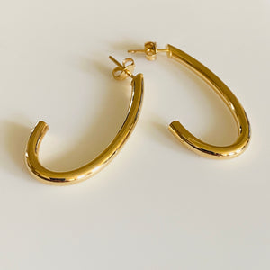 9ct Gold Classic Long Drop Earrings