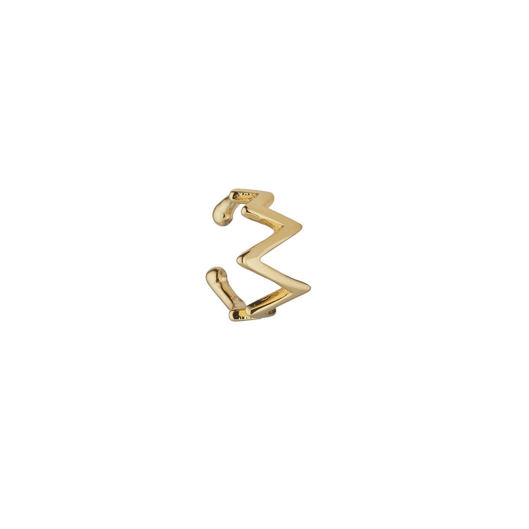 Ear Candy Zigzag Cuff Gold Plated