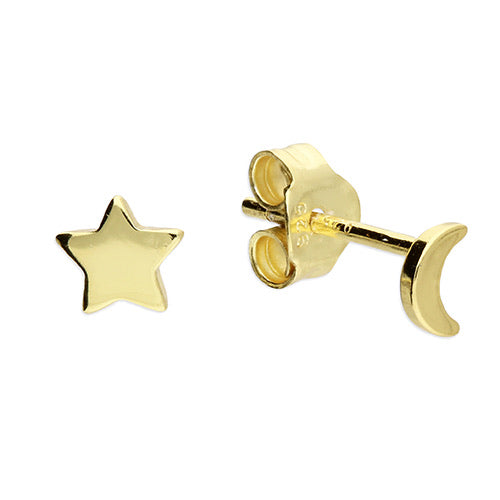 SUNSHINE Moon & Star Stud Earrings