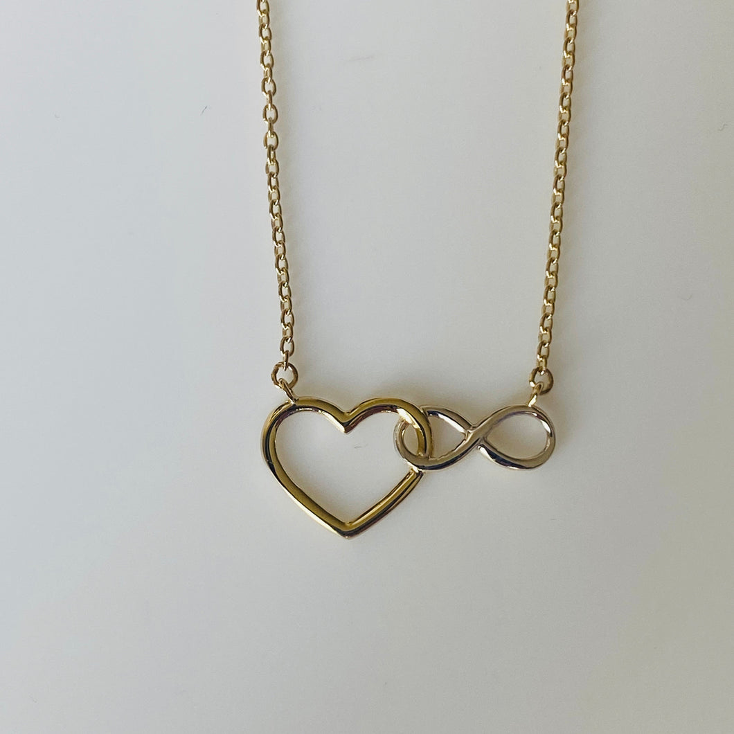 9ct Gold Love Forever Necklace