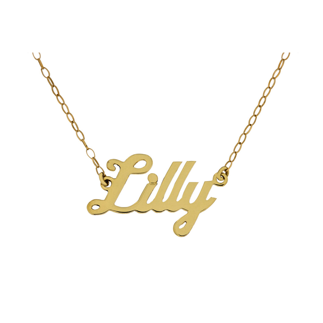 9ct Gold Name Plate Necklace