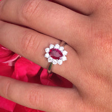 Load image into Gallery viewer, 18ct White Gold Ruby & Diamond Ring