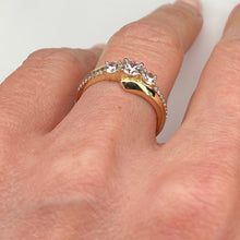 Load image into Gallery viewer, 9ct Gold CZ Trilogy Ring - Twist