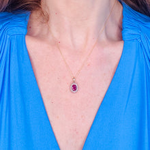 Load image into Gallery viewer, 9ct Gold Ruby & Diamond Pendant