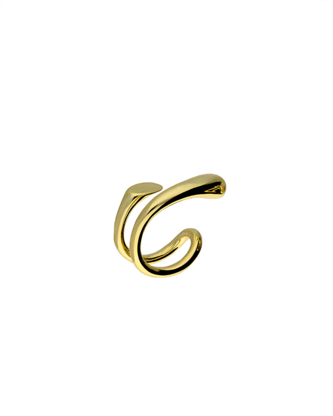 Ear Candy Double Helix Cuff Left - Gold Plated