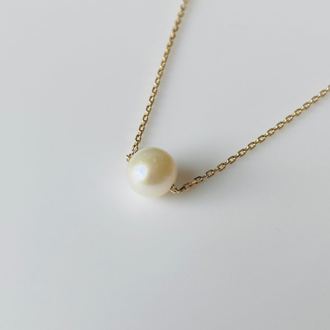 9ct Gold Pearl Slider Necklace