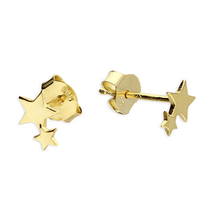 SUNSHINE Two Star Stud Earrings