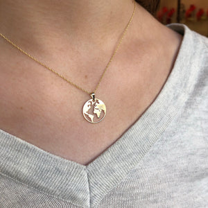 9ct Gold World Necklace