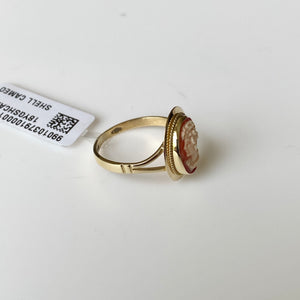 18ct Gold Shell Cameo Ring