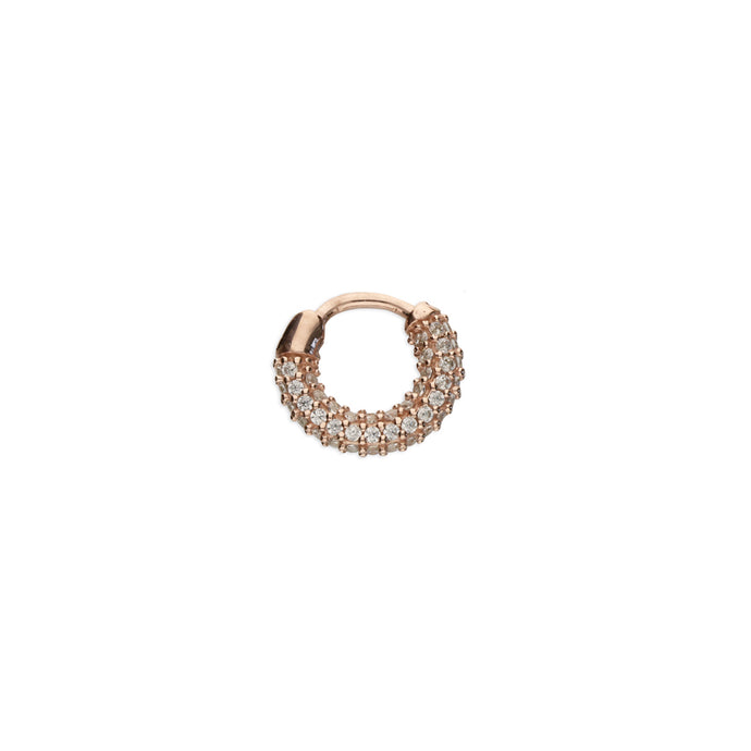 Ear Candy CZ Huggie Earring - Rose