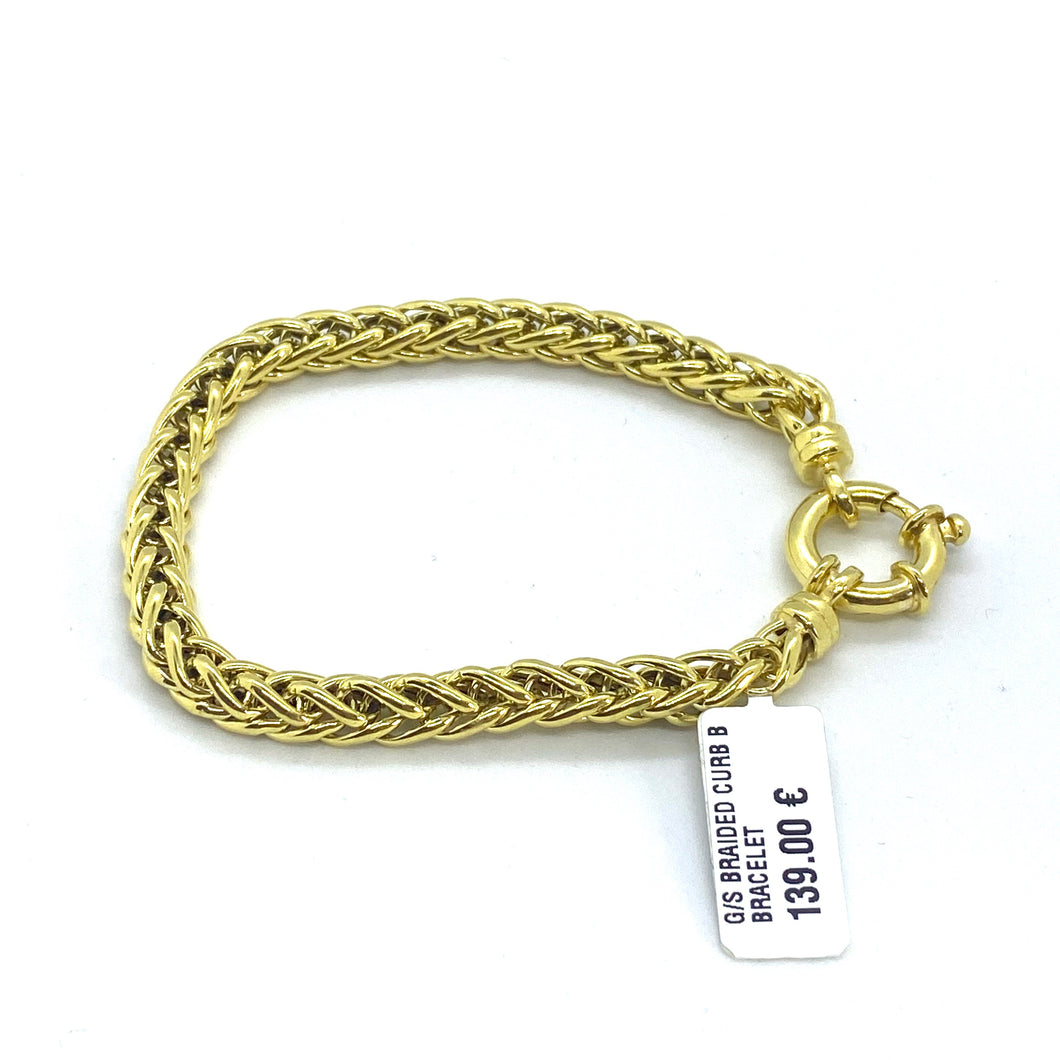 Sunshine Braided Curb Bracelet - Gold