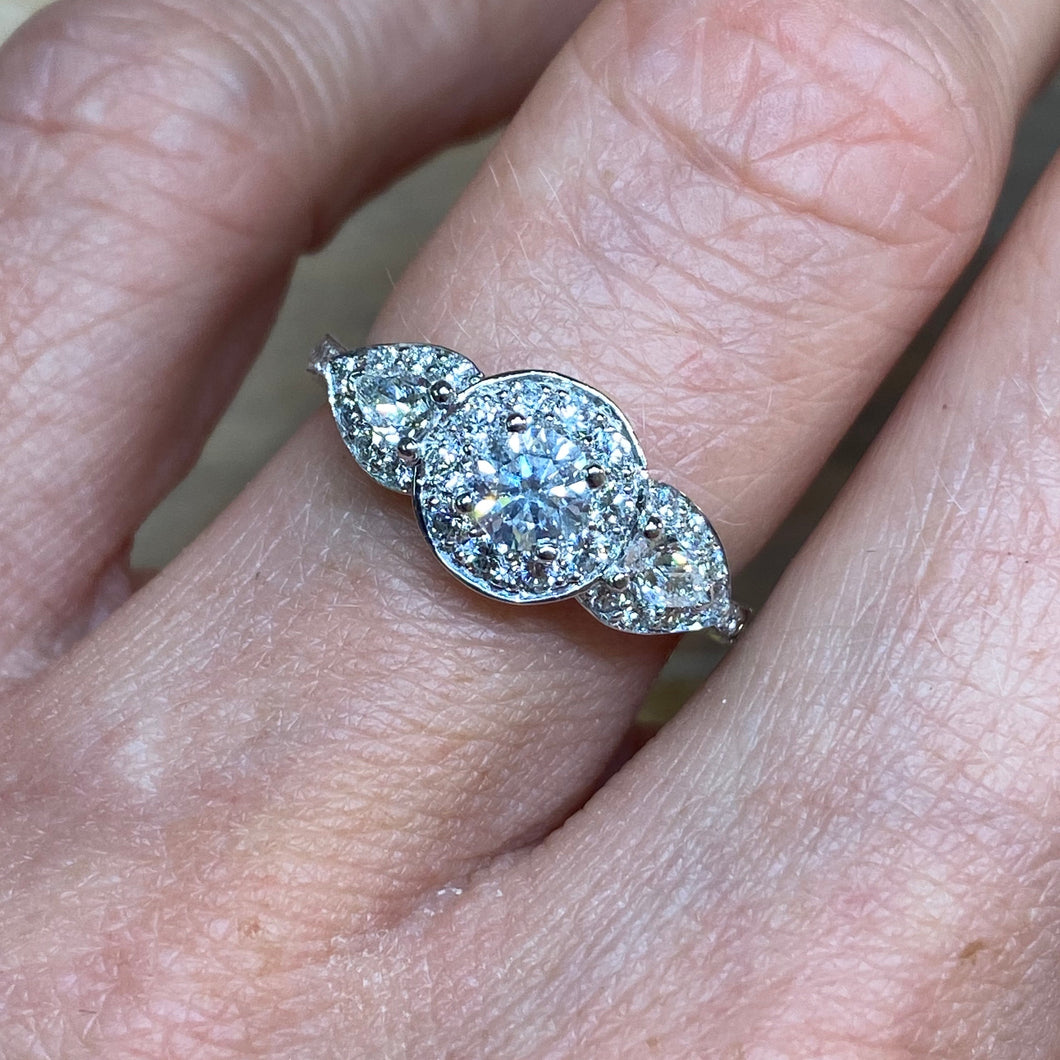 Platinum Laura Engagement Ring - 1.02ct
