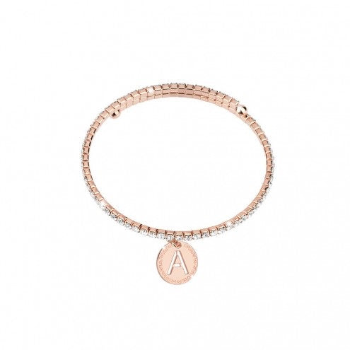 REBECCA MyWorld Letter Bangle - Rose Initial