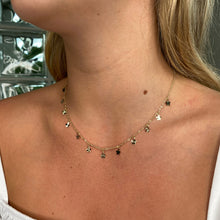 Load image into Gallery viewer, 9ct Gold Dozen Stars Necklace