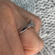 Load image into Gallery viewer, 18ct White Gold Christine Marquis Diamond Engagement Ring 0.73ct