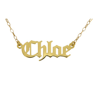 9ct Gold Name Celtic Plate Necklace