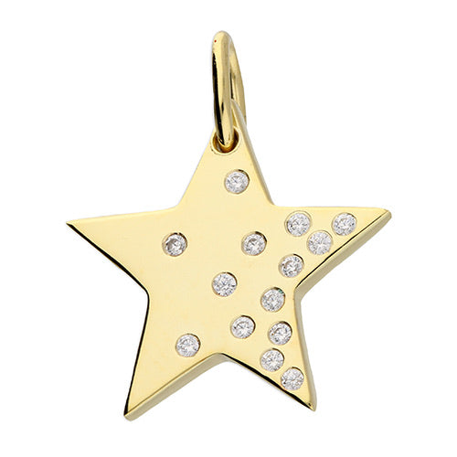 SUNSHINE Scattered CZ Star Necklace