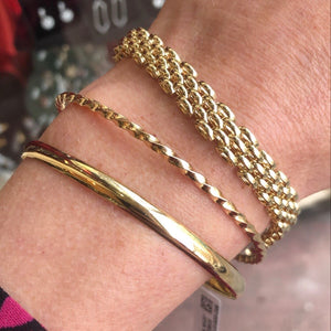 9ct Gold Heavy Panther Two/Three Bracelet