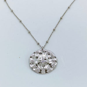 SUNSHINE Horoscope CZ Necklace - Silver