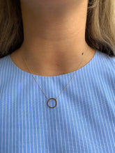 9ct Gold Open Circle Pendant