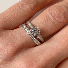 Load image into Gallery viewer, Silver CZ Bridal Rings Set