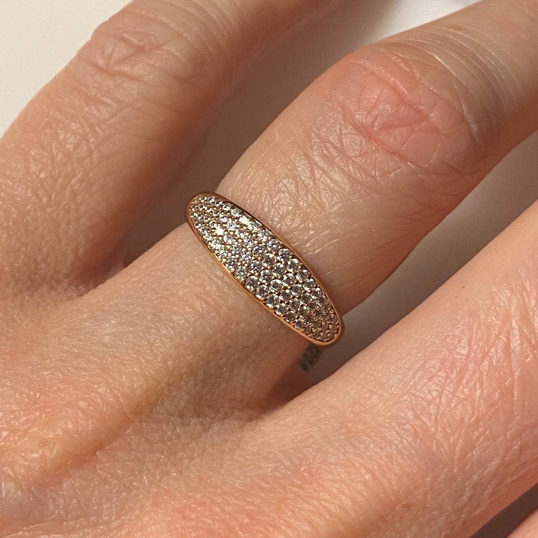 9ct Rose Gold CZ Ring