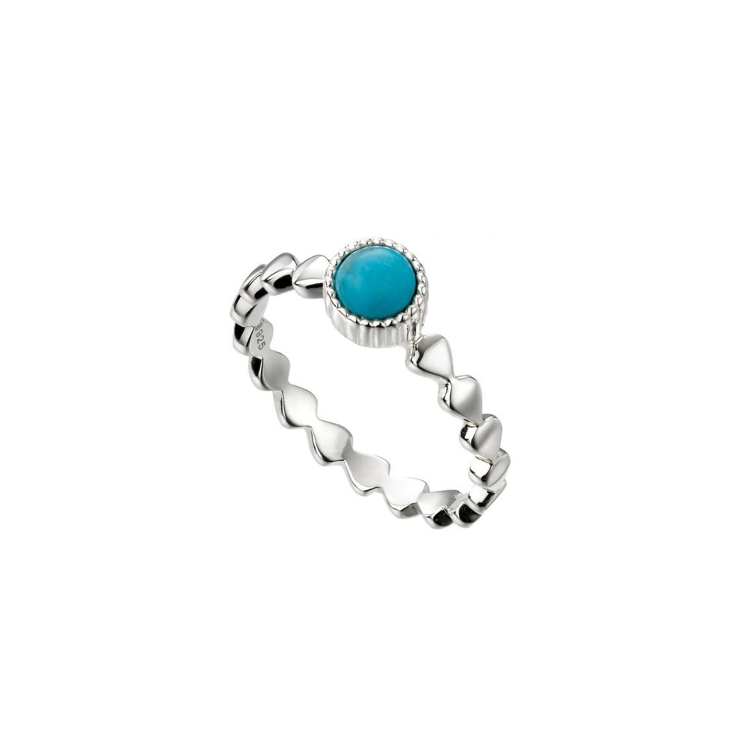 Silver Round Magnesite Ring
