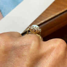 Load image into Gallery viewer, 9ct Gold Opalique & CZ Ring