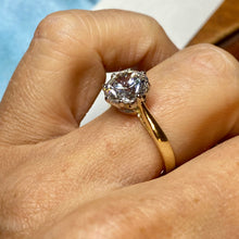 Load image into Gallery viewer, 9ct Gold CZ Solitaire Ring
