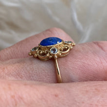 Load image into Gallery viewer, 9ct Gold Lapis Lazuli & Blue Topaz Ring