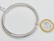 Load image into Gallery viewer, Sunshine Kinetic Bangle with Medallion - Silver