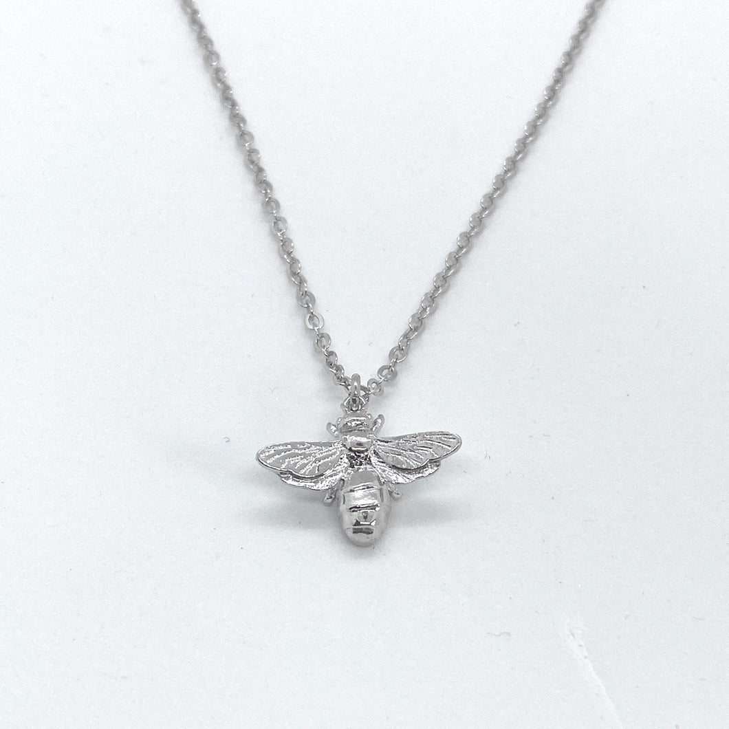 SUNSHINE Bee Necklace - Silver