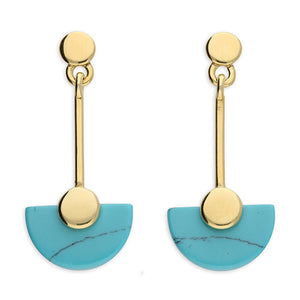 SUNSHINE Turquoise Deco Drop Earrings