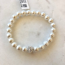 Load image into Gallery viewer, Kids Crystal Ball Stretch Pearl Bracelet