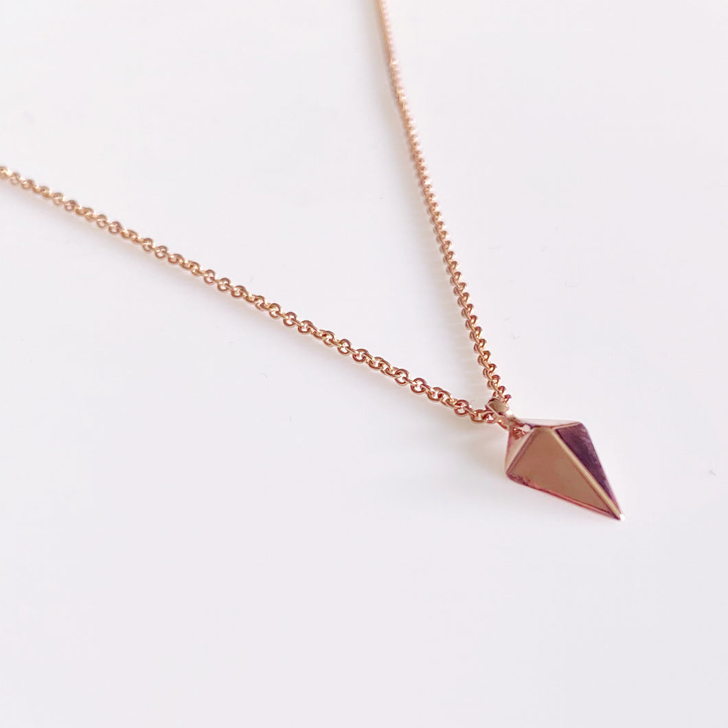 9ct Rose Gold Kite Necklace