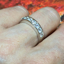 Load image into Gallery viewer, Silver CZ Eternity Ring