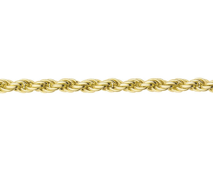 9ct Gold Solid Rope Chain