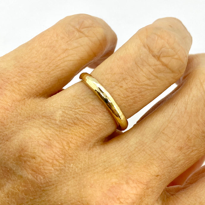 Sunshine Textured Band Ring