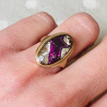 Load image into Gallery viewer, 9ct Yellow Gold Blue John Ring